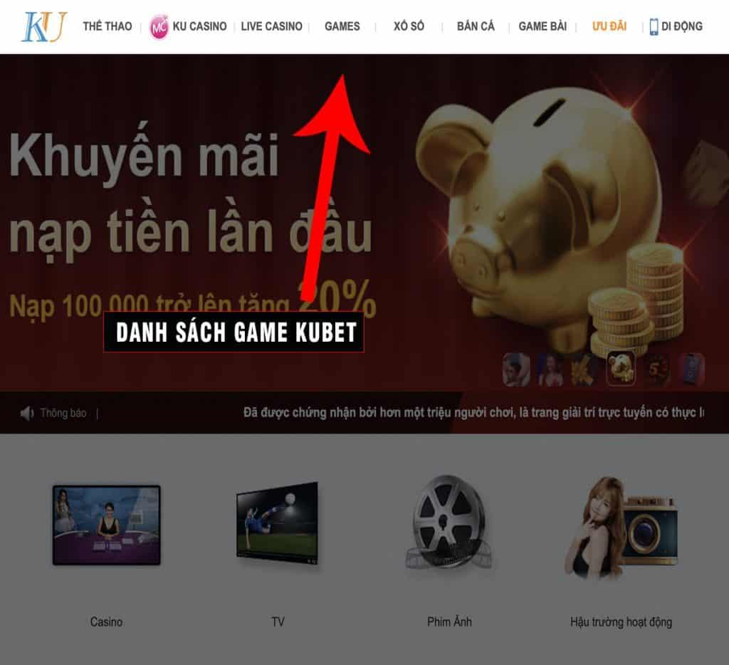 game kubet, kubet, danh sách game kubet