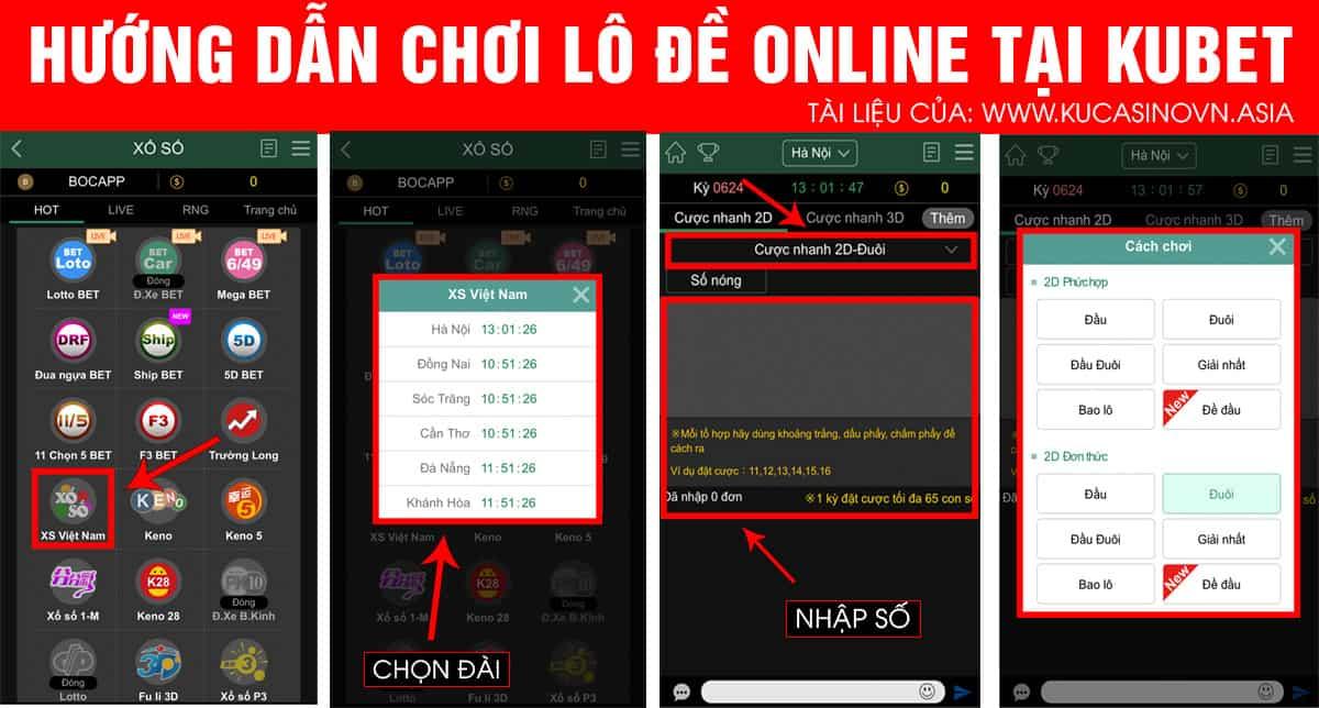 hướng dẫn chơi lô đề online trên điện thoại, lô đề online kubet, hướng dẫn chơi lô đề trực tuyến