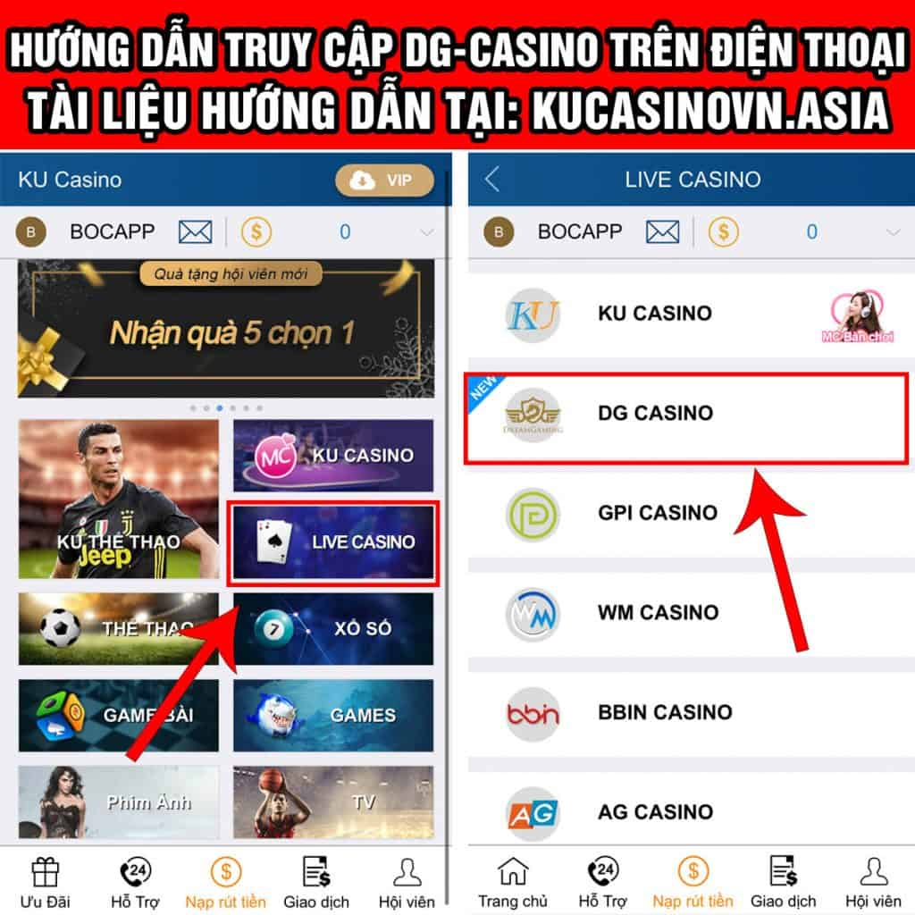 dg casino mobile, dg casino điện thoại