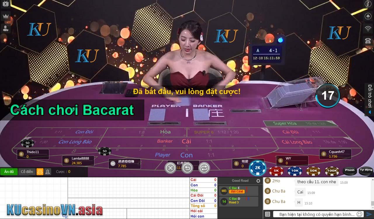 cách chơi bài bacarat ku casino