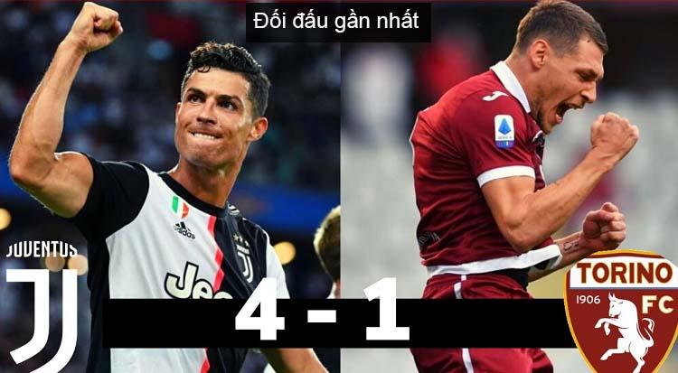 Đối đầu Juventus vs Torino trận gần đây nhất có tỷ số 4-1 nghiêng về juventus