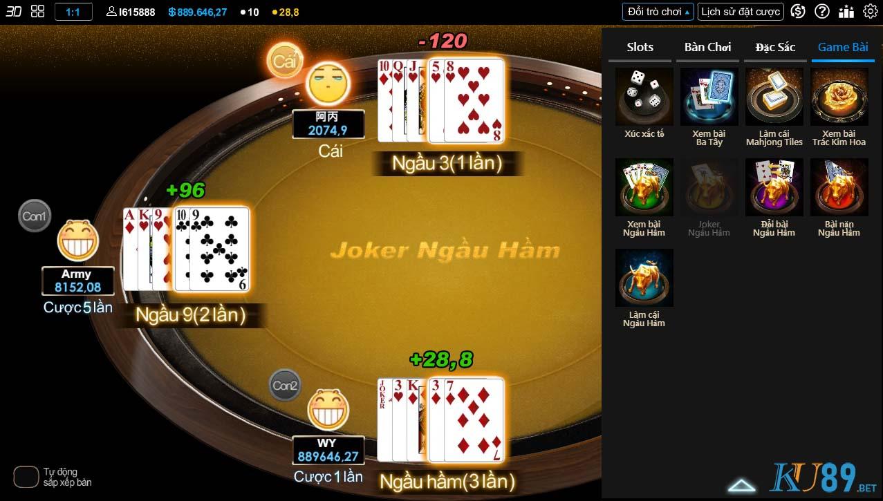 Hình ảnh game bài đổi thưởng tại KU casino