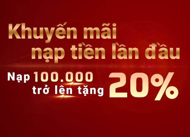 tặng 20%