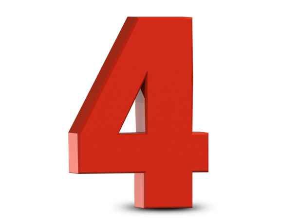 """Theo quan niệm này, số 4 thường không phải là con số may mắn vì nghe giống như """"tử"""