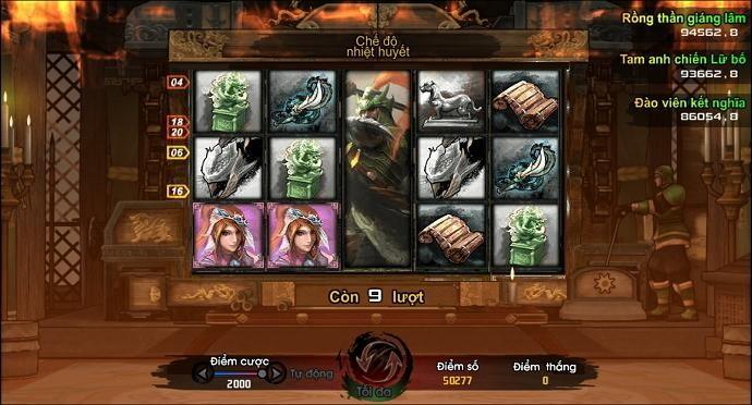 Cờ đam mỹ của Quan Vũ trong game Tam Quốc Chí