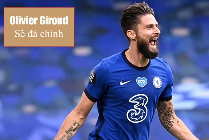 Olivier Giroud đá chính trong ngày 3/1/2021