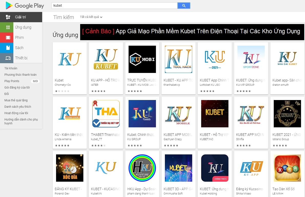 [ Cảnh Báo ] App Giả Mạo Phần Mềm Kubet Trên Điện Thoại Tại Các Kho Ứng Dụng
