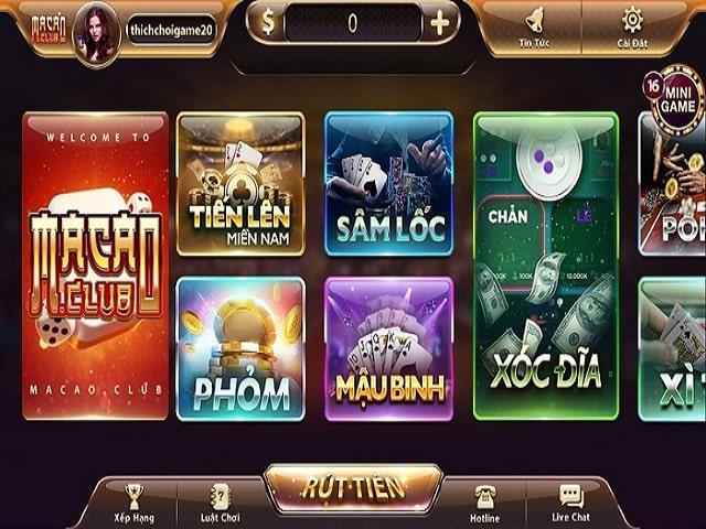 game đánh bài ăn tiền Macau.Club