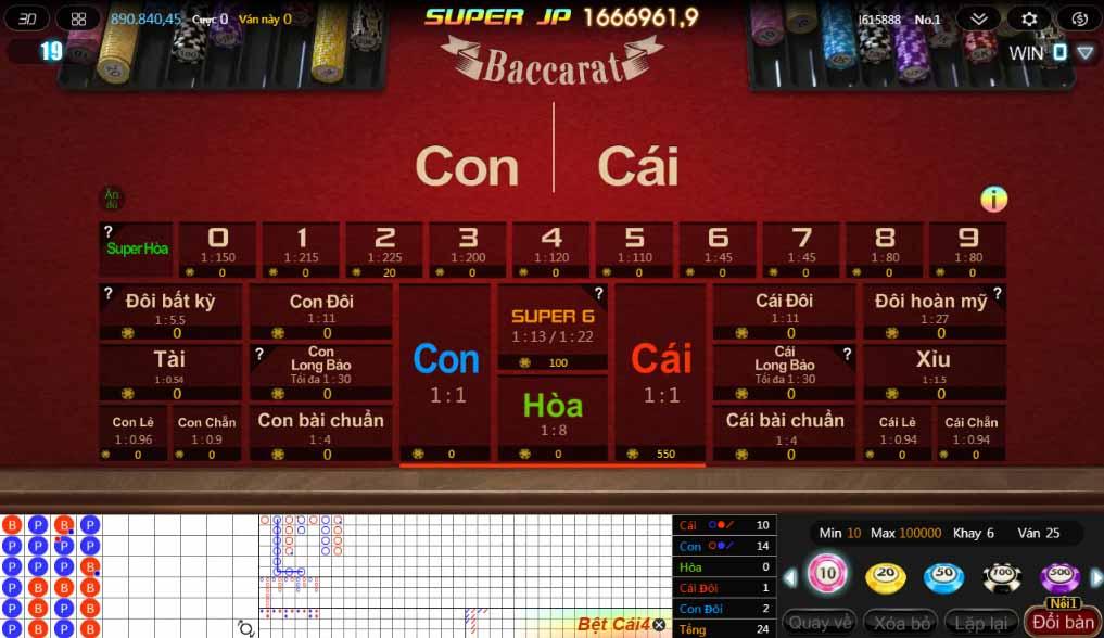 game bài baccarat kubet