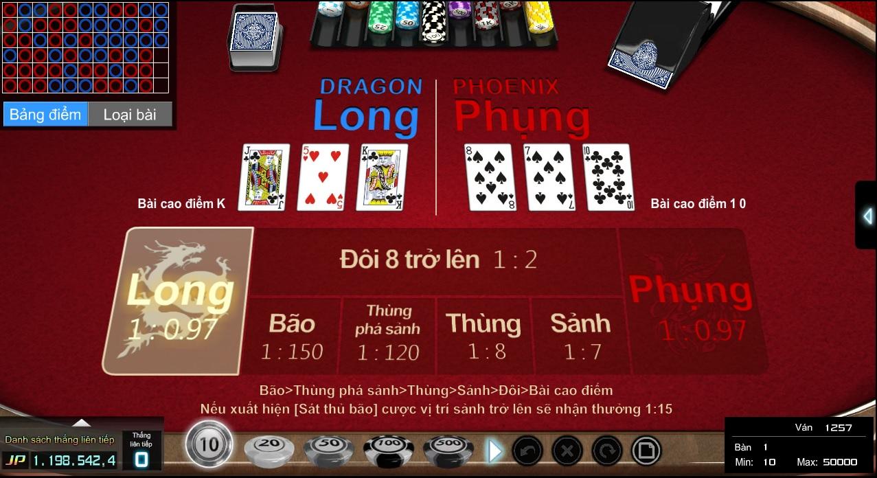 hình ảnh giao diện game bài