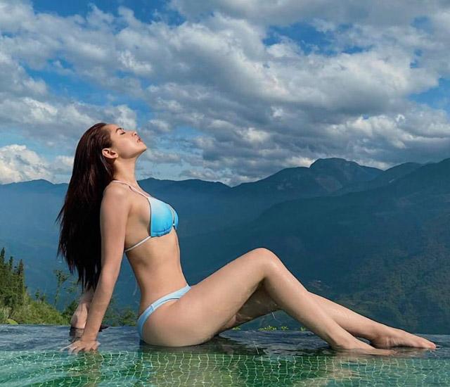 """hinh anh chi pu mac bikini khoe body nuot na- Thân hình """"đồng hồ cát"""" của Chi Pu khiến hội chị em mê mẩn và ao ước"""
