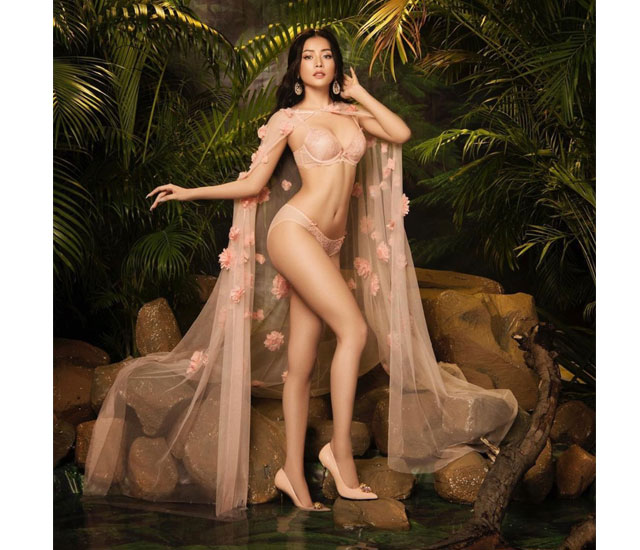 """loat anh nong chi pu mac bikini ho bao - Giọng ca """"Đóa hoa hồng"""" khoe đường cong cơ thể chuẩn dáng vóc người mẫu"""