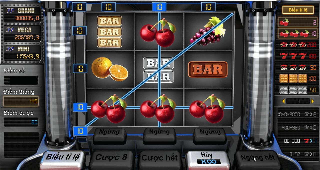 Trò chơi sòng bạc Fruit Bar Kubet