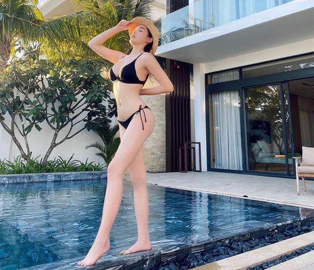 """Hoa hau ky duyen mac bikini - vòng 3 có chiều cao ấn tượng """"Thực hiện tốt"""""""