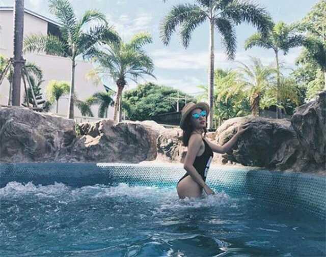 van mai huong bikini - Văn Mai Hương tích cực giảm cân và tự tin diện bikini