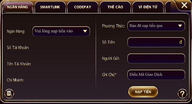 Sunwin.vn nạp tiền vip qua tài khoản ngân hàng