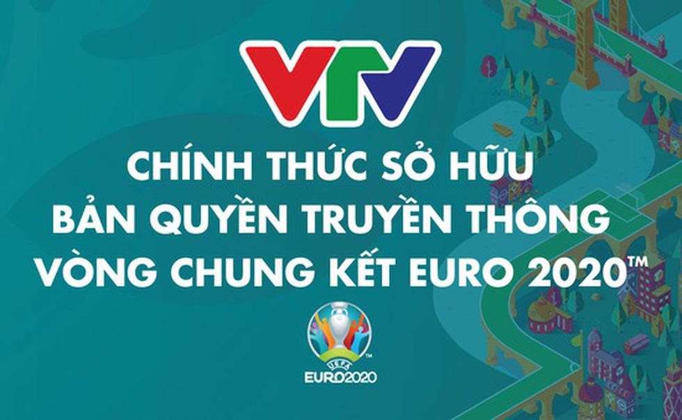 bản quyền trực tiếp các trận bóng Euro 2020