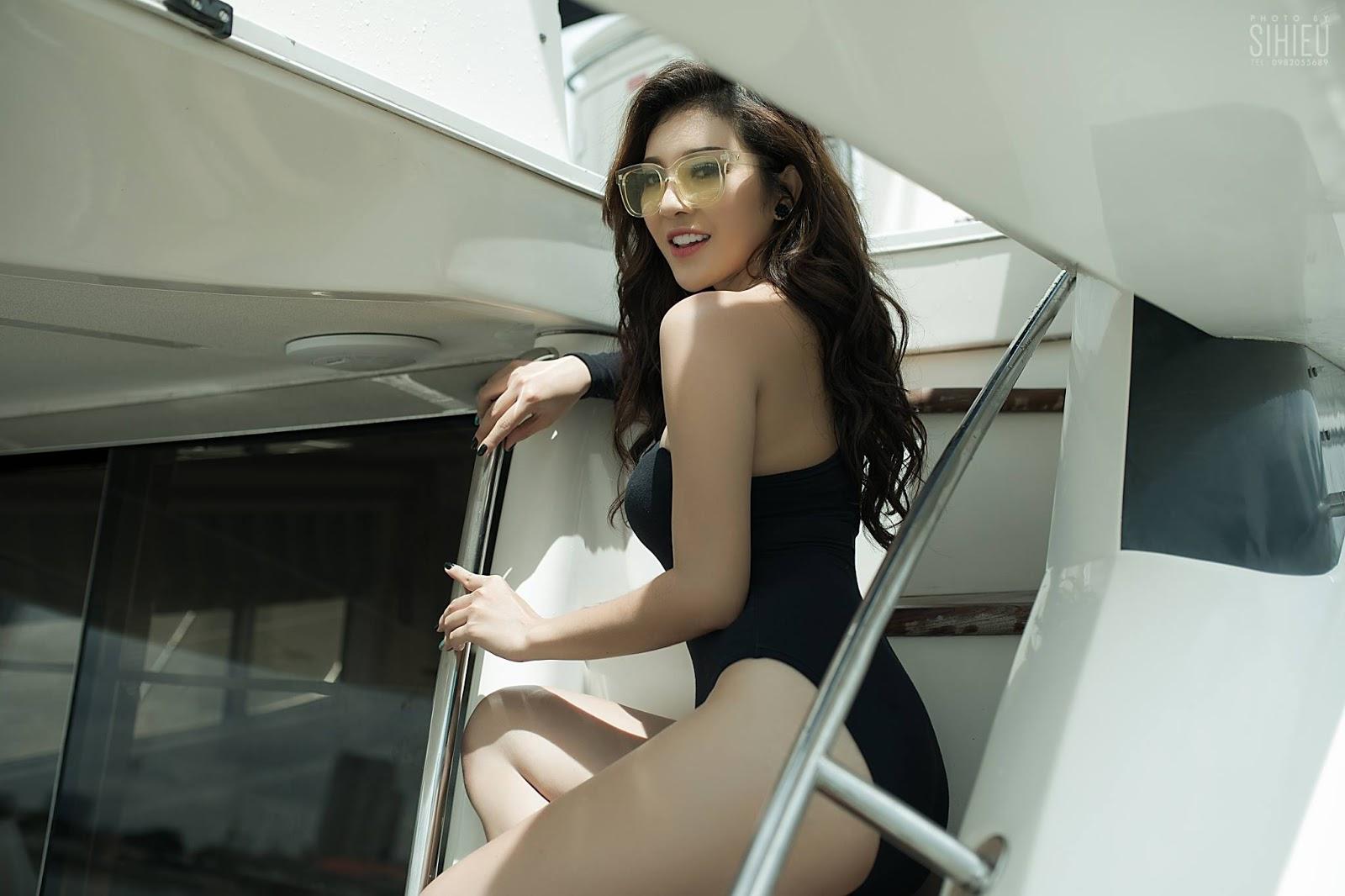 Hot girl du thuyền Thiên Hương 4
