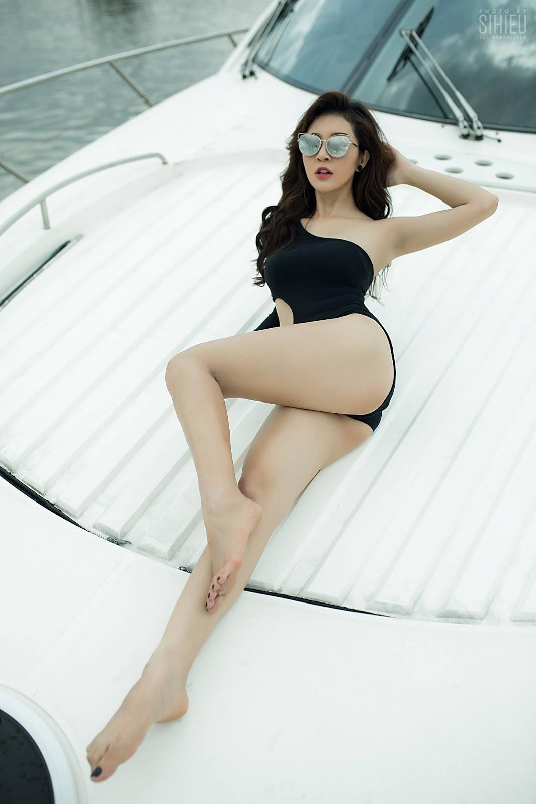 Hot girl du thuyền Thiên Hương 3