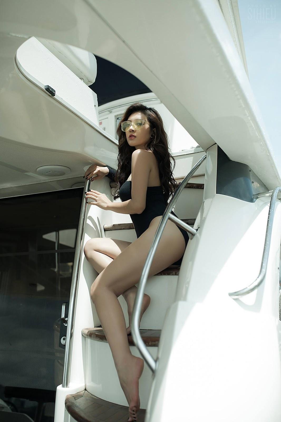 Hot girl du thuyền Thiên Hương 7