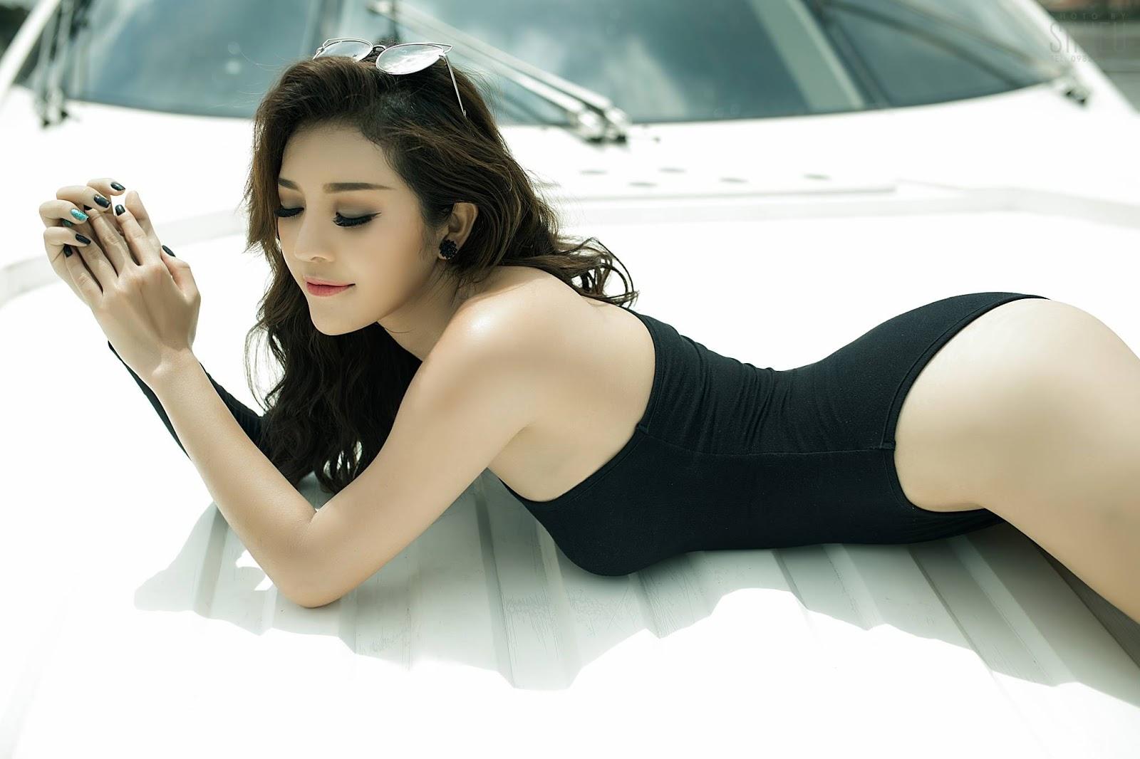 Hot girl du thuyền Thiên Hương 8