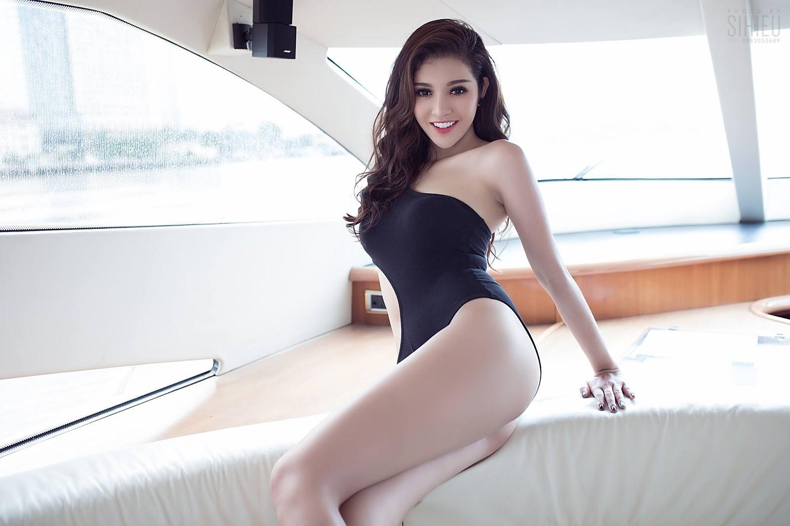 Hot girl du thuyền Thiên Hương 9