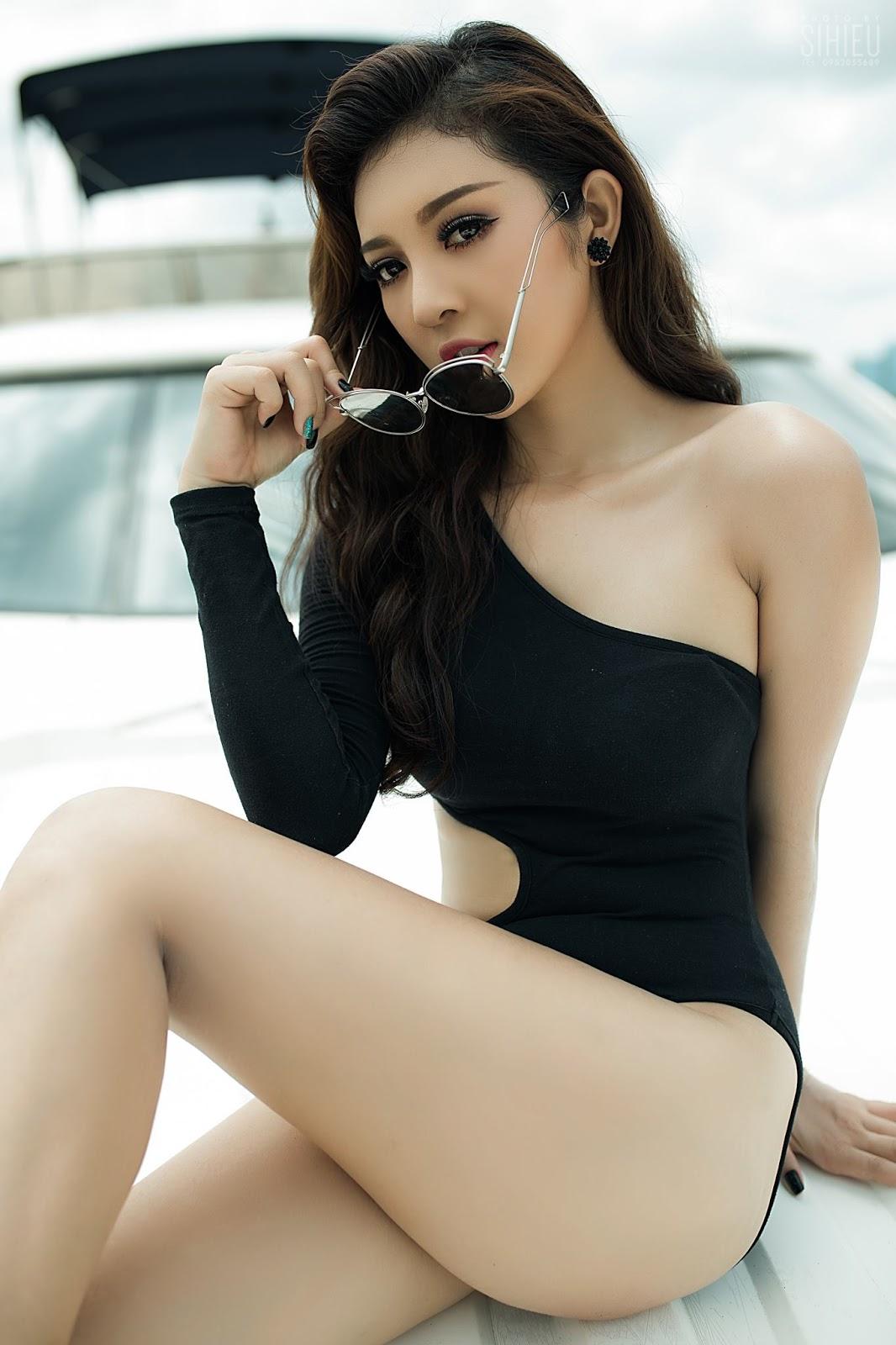 Hot girl du thuyền Thiên Hương 11