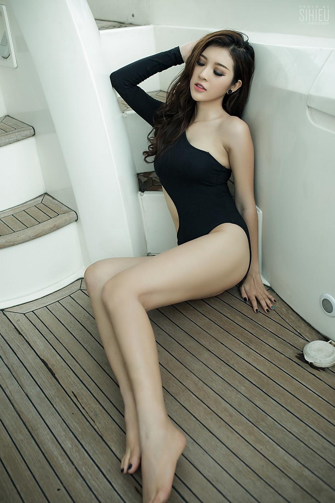 Hot girl du thuyền Thiên Hương 12