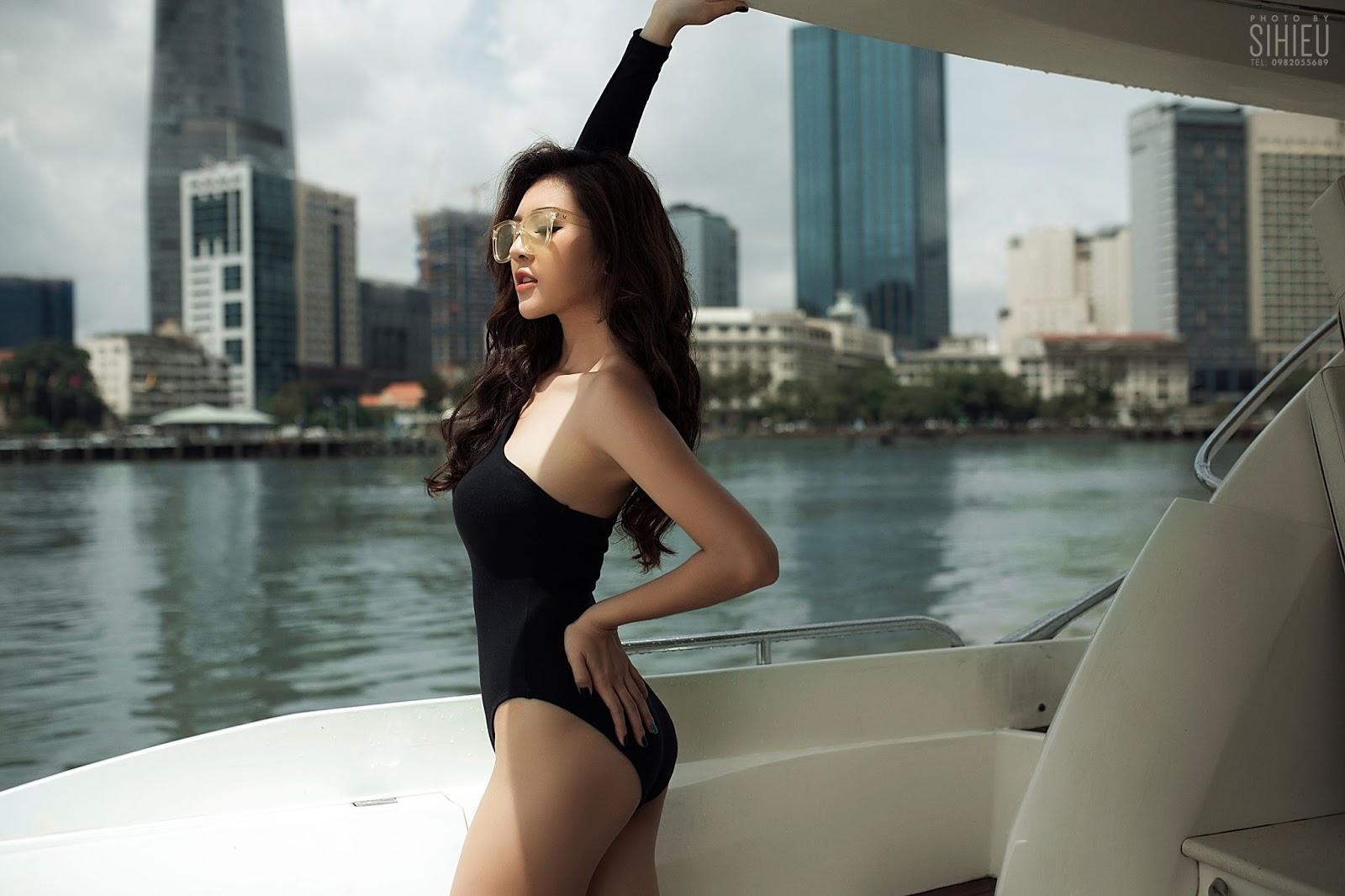 Hot girl du thuyền Thiên Hương 14