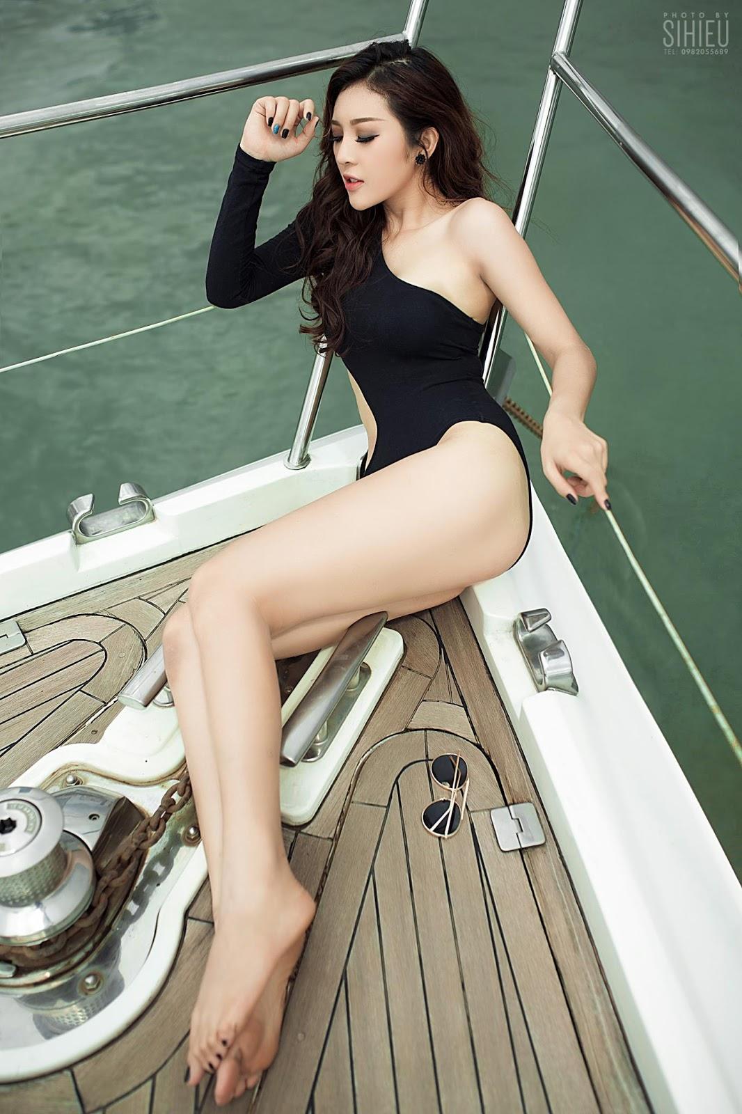 Hot girl du thuyền Thiên Hương 15