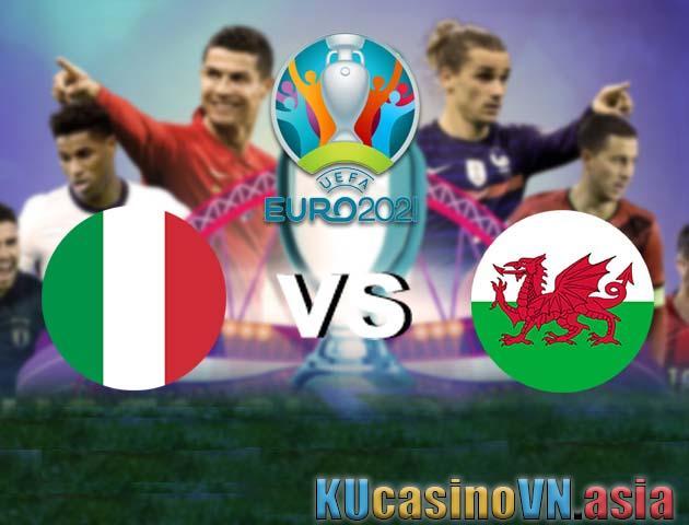Ý vs xứ Wales, 20/06/2021 - Giải vô địch bóng đá châu Âu