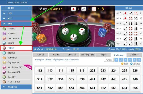 vào game f3 bet tại kubet